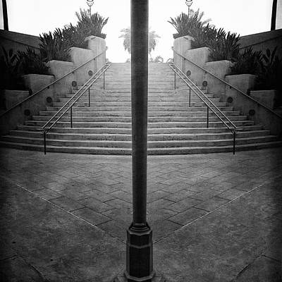 Photograph - Arch Steps And Light Pole From Parking Structure by YoPedro