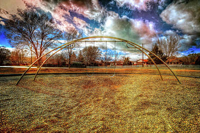 Photograph - Arch Swing Set In The Park 76 by YoPedro
