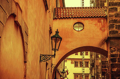Photograph - Arch Way In Old Town. Series Golden Prague by Jenny Rainbow