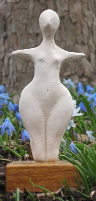 Sculpture - Archaic Goddess by Deborah Dendler