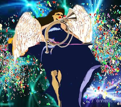 Painting - Archangel by Belinda Threeths