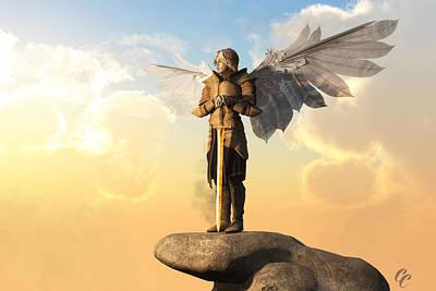 Seraphim Angel Digital Art - Archangel by Christian Art