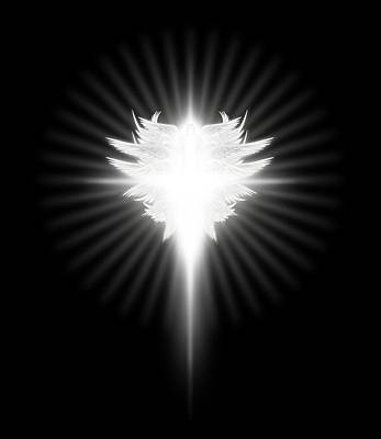 Digital Art - Archangel Cross by James Larkin