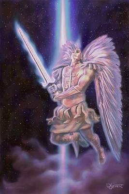 Digital Art - Archangel  by Dave Luebbert