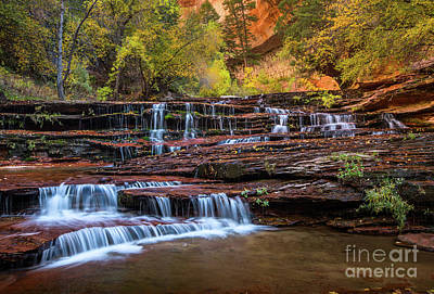 Photograph - Archangel Falls In Autumn by Jamie Pham