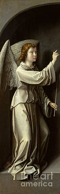 Blessings Painting - Archangel Gabriel by Gerard David