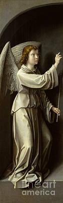 Archangel Gabriel Art Print by Gerard David