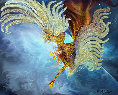 Painting - Archangel Gabriel by Steve Roberts