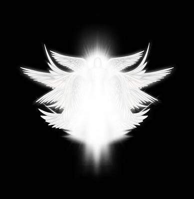 Digital Art - Archangel by James Larkin