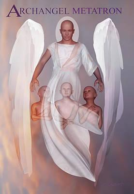 Spiritual Digital Art - Archangel Metatron by Valerie Anne Kelly