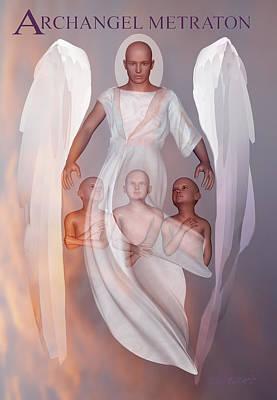 Digital Art - Archangel Metraton by Valerie Anne Kelly