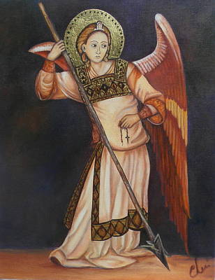 Painting - Archangel Michael by Cheri Stripling