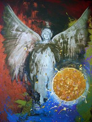 Archangel Michael Creation Art Print by Alma Yamazaki