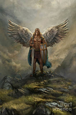 Archangel Michael Art Print by Robert Greco