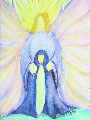 Painting - Archangel Michael The Protector by Lorah Tout
