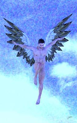 Raphael Archangel Painting - Archangel Raphael by Joaquin Abella