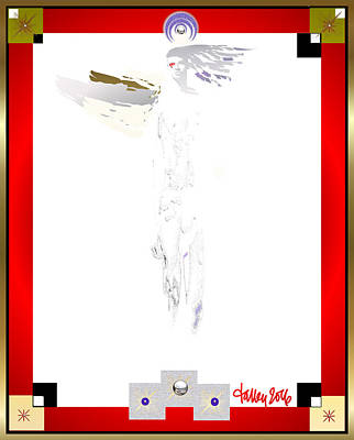 Mixed Media - Angels - Archangel Raphael by Larry Talley