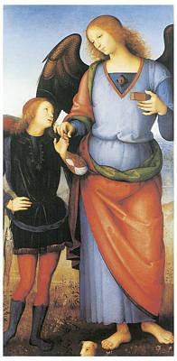 Raphael Archangel Painting - Archangel Raphael With Tobias by Pietro Perugino