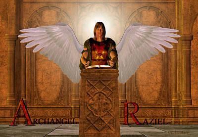Painting - Archangel Raziel by Valerie Anne Kelly