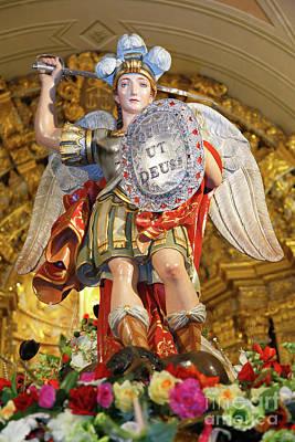 Archangel Saint Michael Art Print by Gaspar Avila