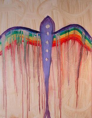 Archangel Shamuel Art Print by Emerald GreenForest