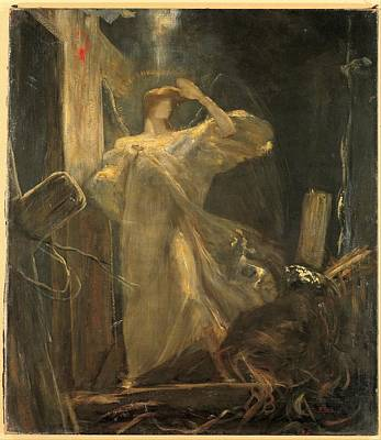 Abstract Painting - Archangel, Study For The Foundation Of The Faith By Nikolaos Gyzis, 1894-1895 by Celestial Images