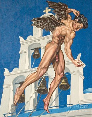 Physique Painting - Archangel by The Artist Dana