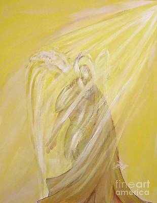 Painting - Archangel Uriel - Light Of God by Lorah Buchanan