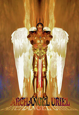 Painting - Archangel Uriel by Valerie Anne Kelly