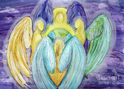 Painting - Archangels Of Protection by Lorah Buchanan