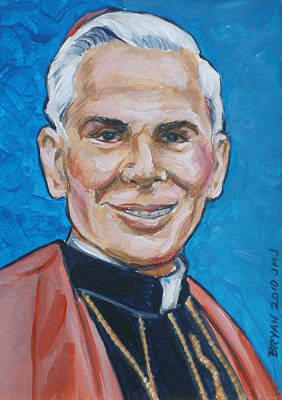 Painting - Archbishop Fulton J. Sheen by Bryan Bustard