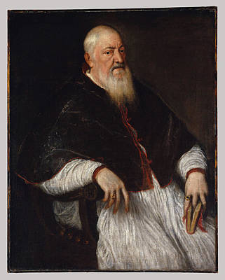 Titian Painting - Archbishop Of Milan by MotionAge Designs