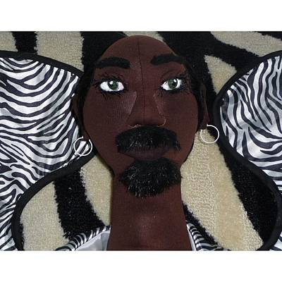 African Cloth Doll Sculpture - Archeangel Theodore by Cassandra George Sturges
