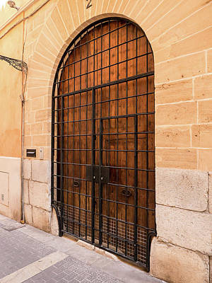 Photograph - Arched Barred Door by Herb Paynter