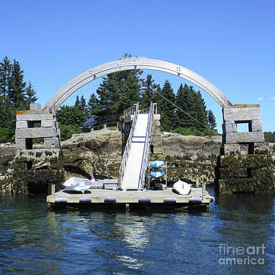 Photograph - Arched Dock by Randall Weidner
