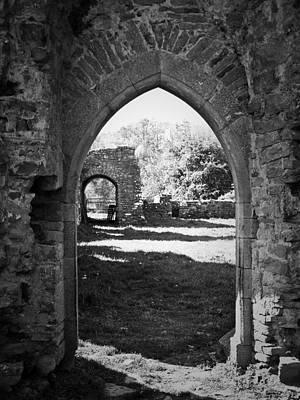 Arched Door At Ballybeg Priory In Buttevant Ireland Art Print by Teresa Mucha