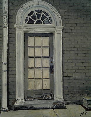 Arched Doorway Federal Hill Art Print by John Schuller