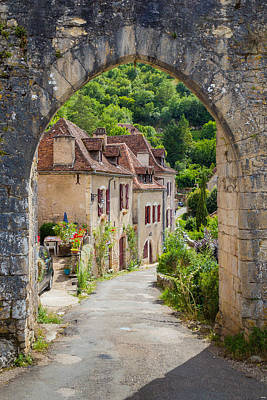 Photograph - Arched Entrance At Saint Circ Lapopie In France by Semmick Photo
