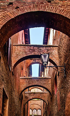 Photograph - Arched Passageway In Siena by Carolyn Derstine