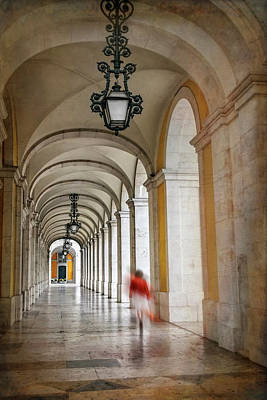 Photograph - Arched Walkway Terreiro Do Paco Lisbon Portugal  by Carol Japp