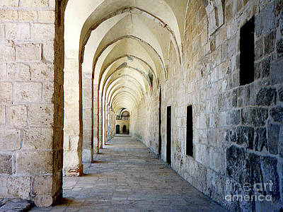Photograph - Arched Walkwayat A Church In Florence Italy by Merton Allen