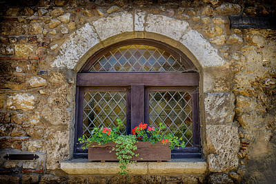 Photograph - Arched Window France_dsc6810_16 by Greg Kluempers