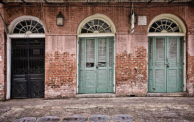 Photograph - Arched Windows - Wood And Metal Doors - New Orleans by Greg Jackson
