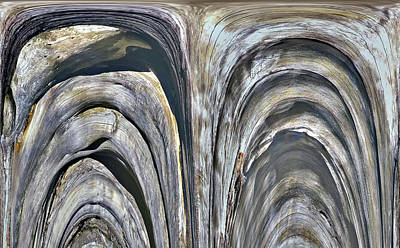 Photograph - Arched Wooden Forms by Nareeta Martin