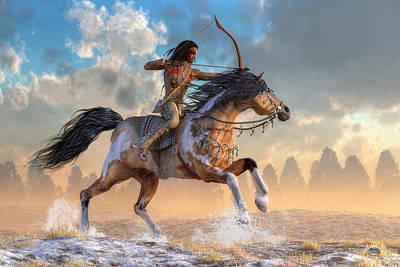 Archer Digital Art - Archer On Horseback by Daniel Eskridge