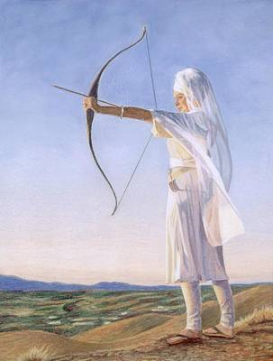 Spiritual Warrior Painting - Archeress by Gurukirn Khalsa
