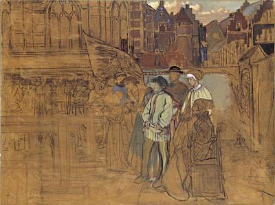 Painting - Archery Feast In Antwerp In The 16th Century by Hendrik Jan August Leys