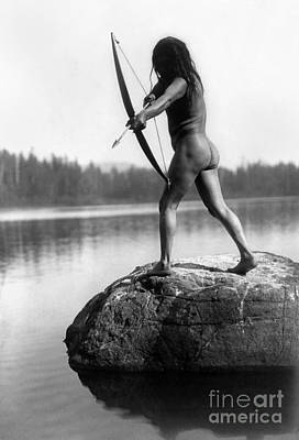 Native American Nude Photograph - Archery: Nootka Indian by Granger