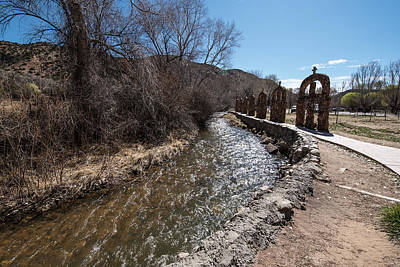 Photograph - Arches And Acequia At Santuario by Tom Cochran