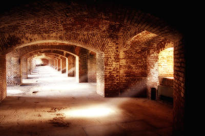 Arches And Beaming Light  Art Print by George Oze